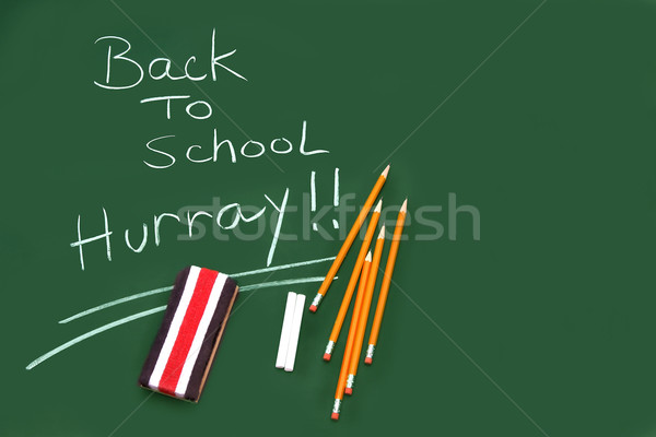 Back to school ..hurray! Stock photo © Sandralise