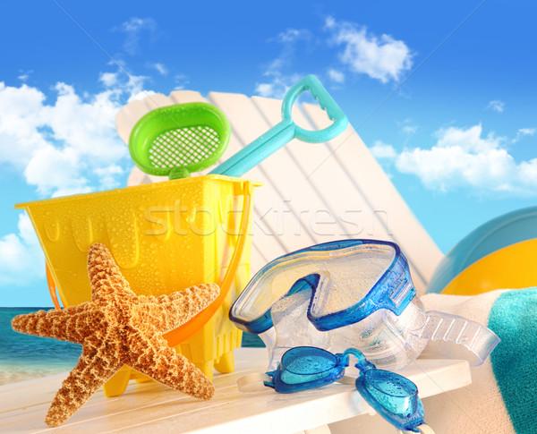 Stok fotoğraf: Plaj · oyuncaklar · gökyüzü · arka · plan · kum