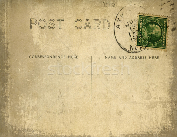 Stock photo: Vintage postcard with grungy background