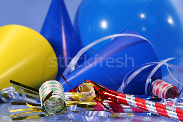 Blue party decorations with balloons Stock photo © Sandralise