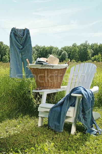 Jeans hanging on clothesline Stock photo © Sandralise