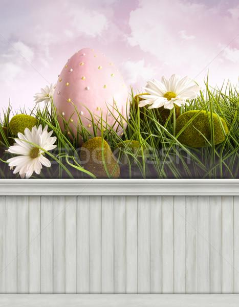Happy Easter Spring background/backdrop Stock photo © Sandralise