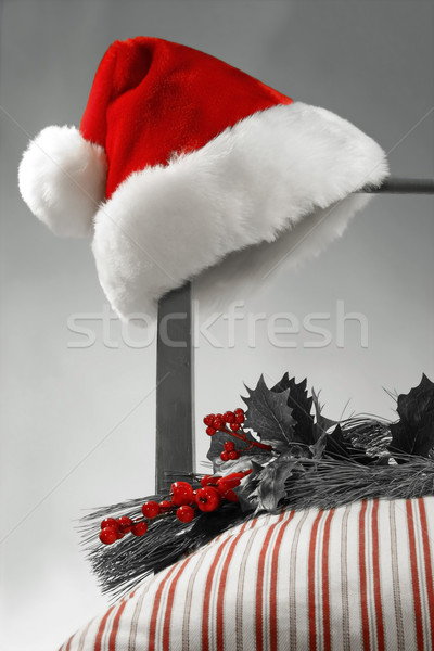 Santa Hat on a chair Stock photo © Sandralise