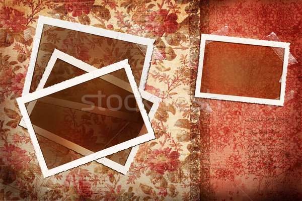 Photos on antique floral background Stock photo © Sandralise