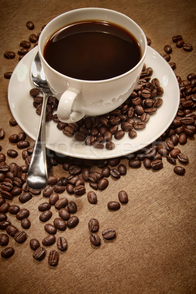Cup of coffee on wood background Stock photo © Sandralise