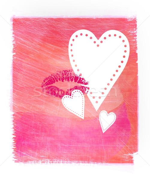 Rózsaszín absztrakt vízfesték papír terv festék Stock fotó © Sandralise