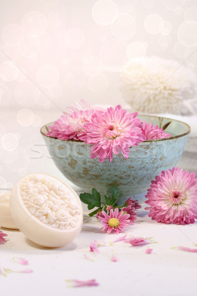 Spa scene with  chrysanthemum flowers in water Stock photo © Sandralise