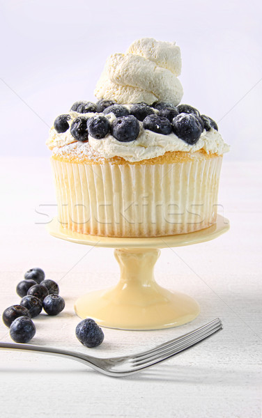 Summer dessert with blueberries and whip cream Stock photo © Sandralise