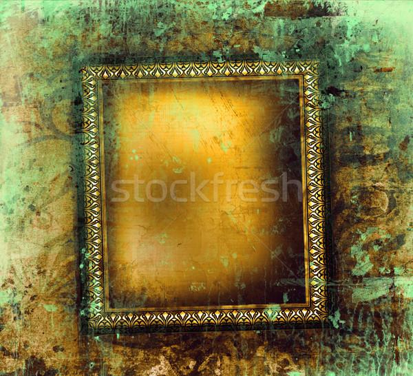Guilded frame on grunge background Stock photo © Sandralise