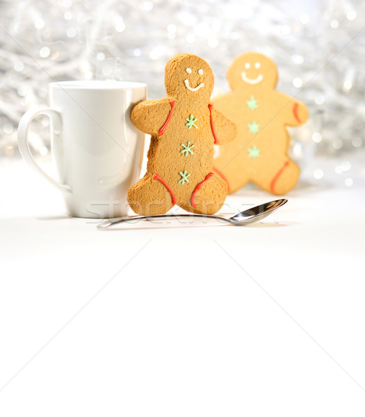 Hot holiday drink with gingerbread cookies  Stock photo © Sandralise