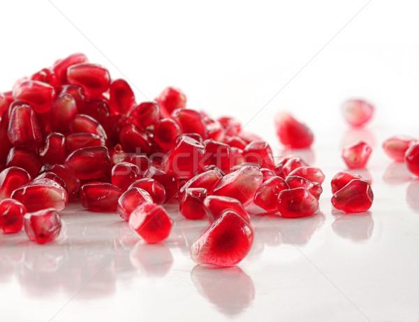 Stockfoto: Rijp · granaatappel · zaden · witte · voedsel · natuur