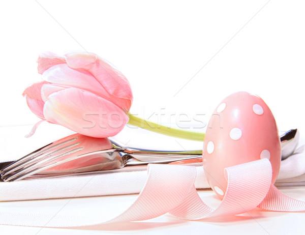 Tulip бледный розовый продовольствие Сток-фото © Sandralise
