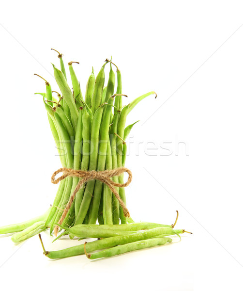 Haricots verts cordon blanche fond manger agriculture Photo stock © Sandralise