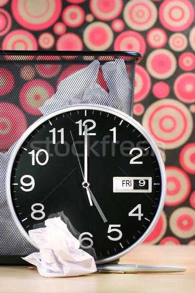Foto stock: Tempo · casa · relógio · retro · papel · de · parede