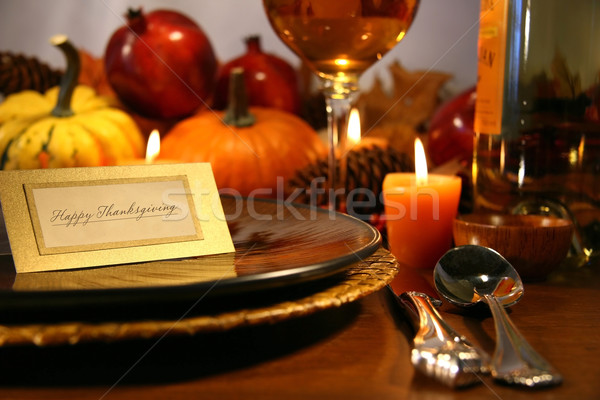 Thanksgiving place setting Stock photo © Sandralise