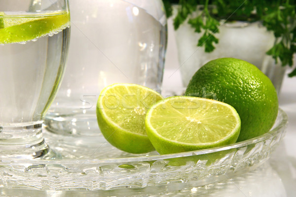 Limes and sparkling water Stock photo © Sandralise