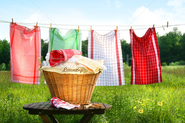 Towels drying on the clothesline Stock photo © Sandralise