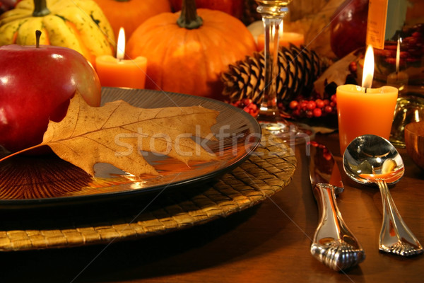 Details for aThanksgiving table Stock photo © Sandralise