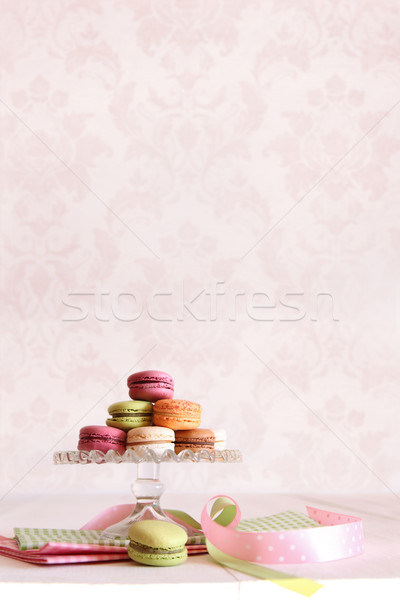 French macaroons on dessert tray Stock photo © Sandralise