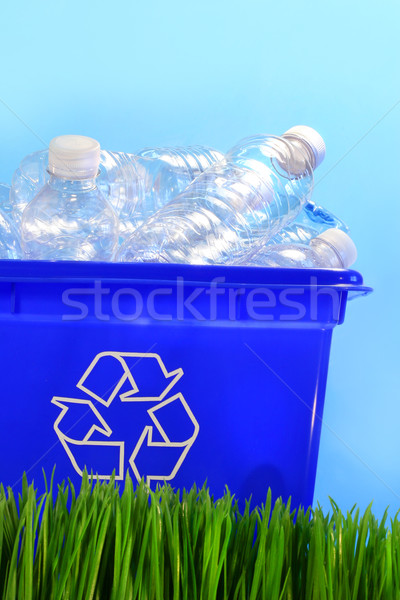 Bottles in recycling container bin Stock photo © Sandralise