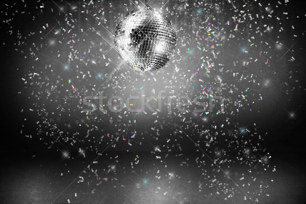 Disco balle lumières confettis partie fond Photo stock © Sandralise