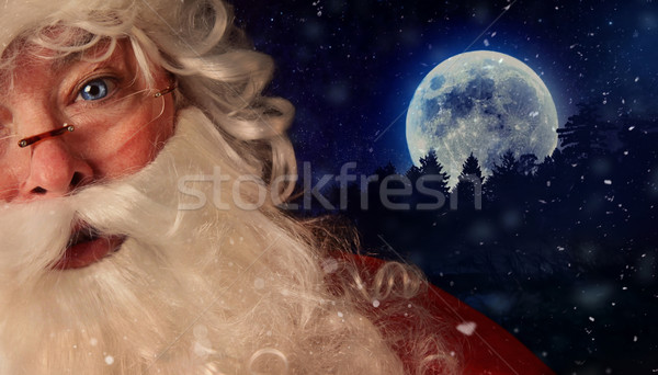 Closeup of Santa Clauswith night sky in background Stock photo © Sandralise