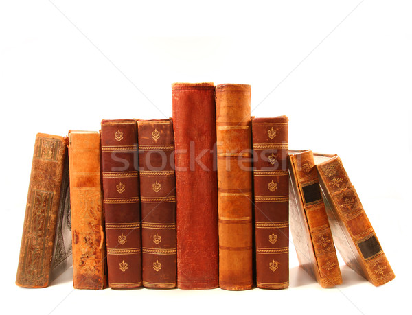 Stock photo: Old books against a white background