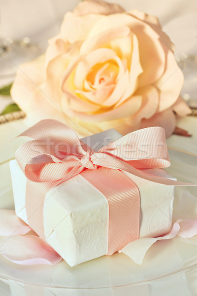 Thank you gift at wedding reception Stock photo © Sandralise