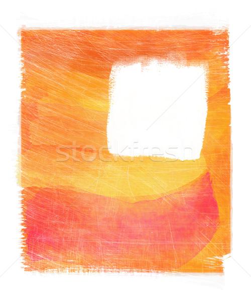 Narancs absztrakt vízfesték papír textúra háttér Stock fotó © Sandralise