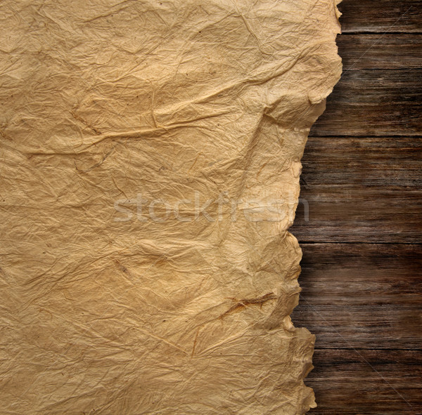 Closeup of  wrinkled parchment paper Stock photo © Sandralise