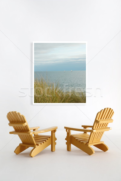 Miniature adirondack chairs  Stock photo © Sandralise