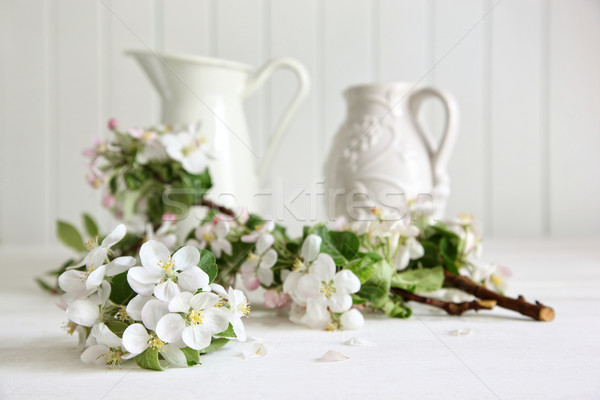 Apple tree branches in a vase  Stock photo © Sandralise
