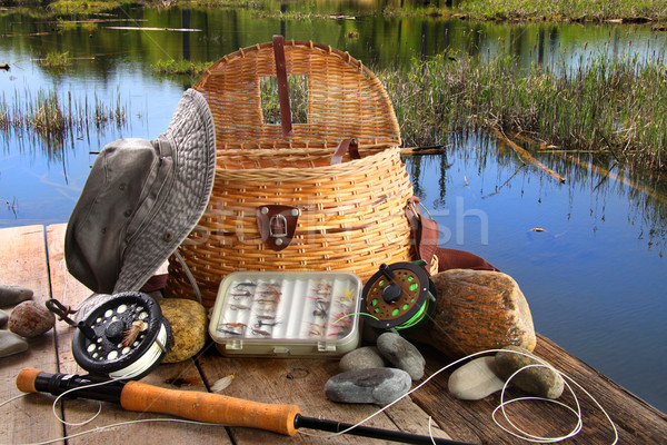 традиционный стержень оборудование озеро рыбы Сток-фото © Sandralise