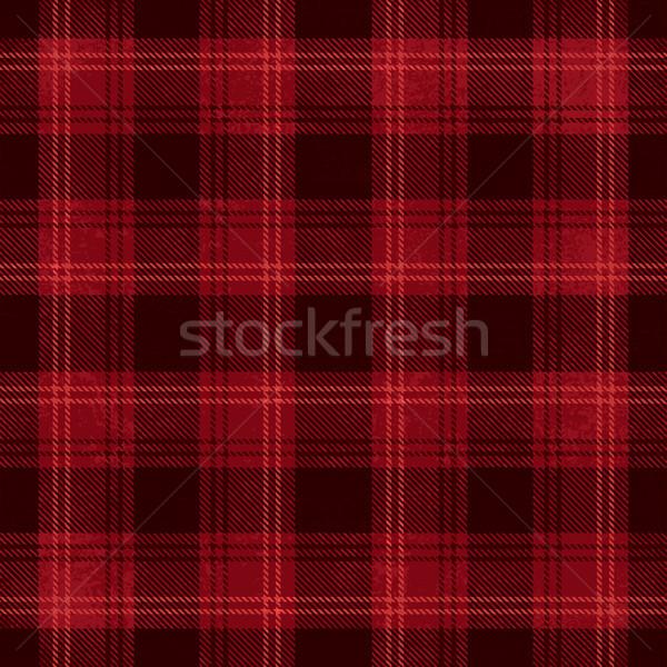 Red and black vector tartan inspired pattern background Stock photo © sanjanovakovic