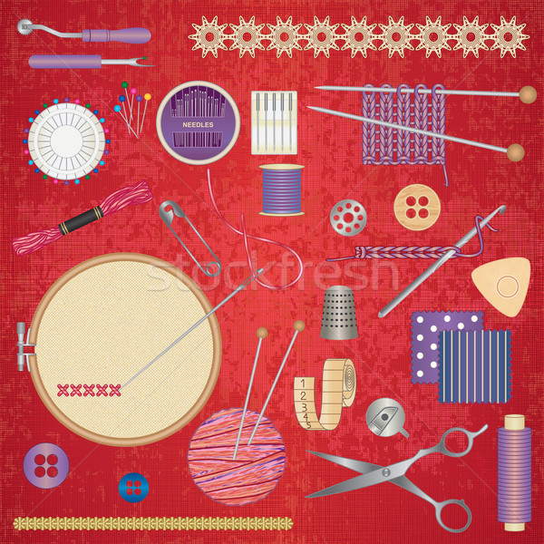 sewing and needlework accessories 2 Stock photo © sanjanovakovic