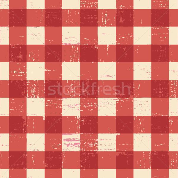 テーブルクロス 赤 白 レストラン デザイン ストックフォト © sanjanovakovic