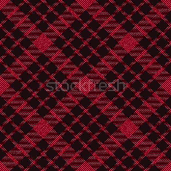 Red plaid tartan fabric 3 Stock photo © sanjanovakovic