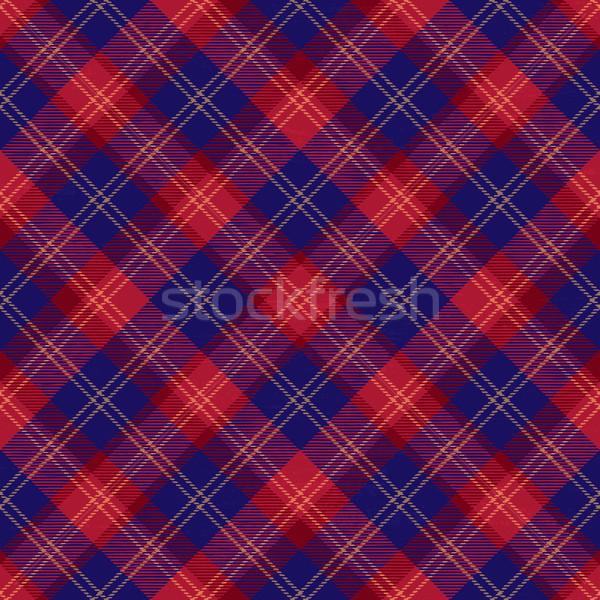 Tartan inspired grunge diagonal plaid pattern background 8 Stock photo © sanjanovakovic