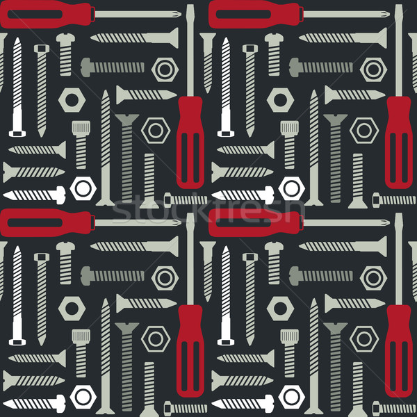 Vector seamless pattern with screws and screwdrivers 2 Stock photo © sanjanovakovic