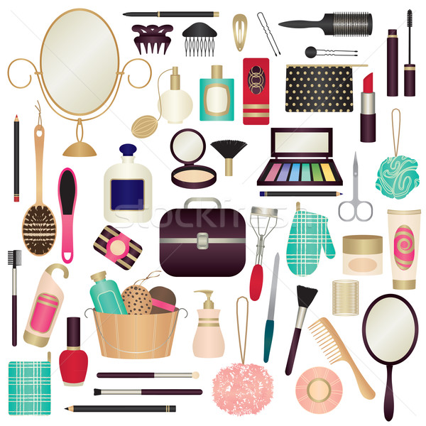 Beauty and care related symbols 1 Stock photo © sanjanovakovic