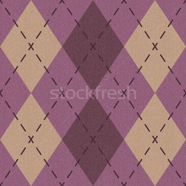 Argyle pattern inspired textured vector background 