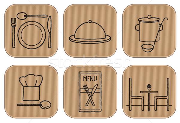 Tatlılar işaretleri simgeler karton Stok fotoğraf © sanjanovakovic