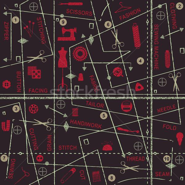 Dikiş semboller sözler moda Stok fotoğraf © sanjanovakovic
