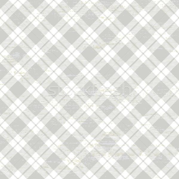 Gray scratched plaid tartan pattern Stock photo © sanjanovakovic