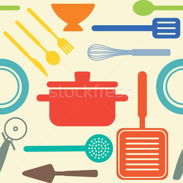 Vektör pişirme nesneler gıda ev Stok fotoğraf © sanjanovakovic