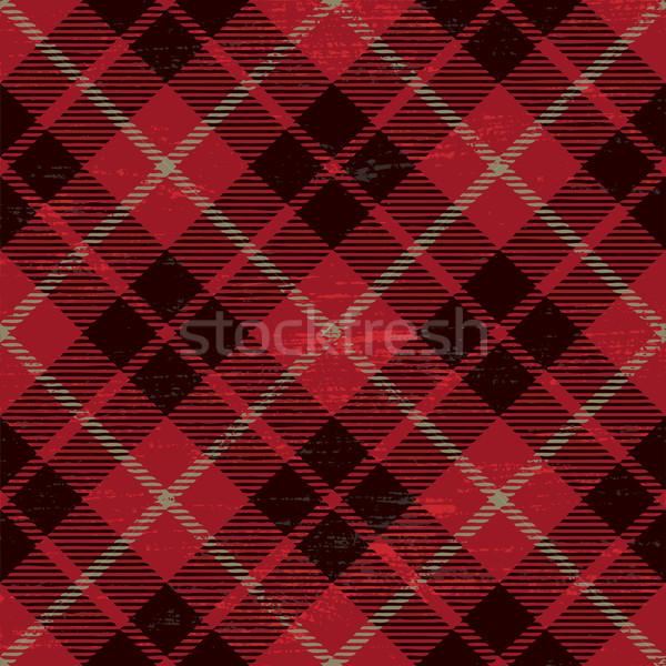 Scratched plaid tartan pattern 2 Stock photo © sanjanovakovic