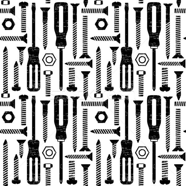 Vector werk achtergrond industriële tool Stockfoto © sanjanovakovic