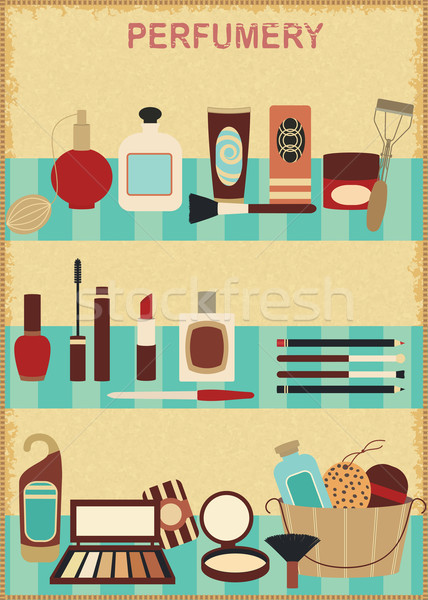 Stock photo: Vintage cosmetic poster 1