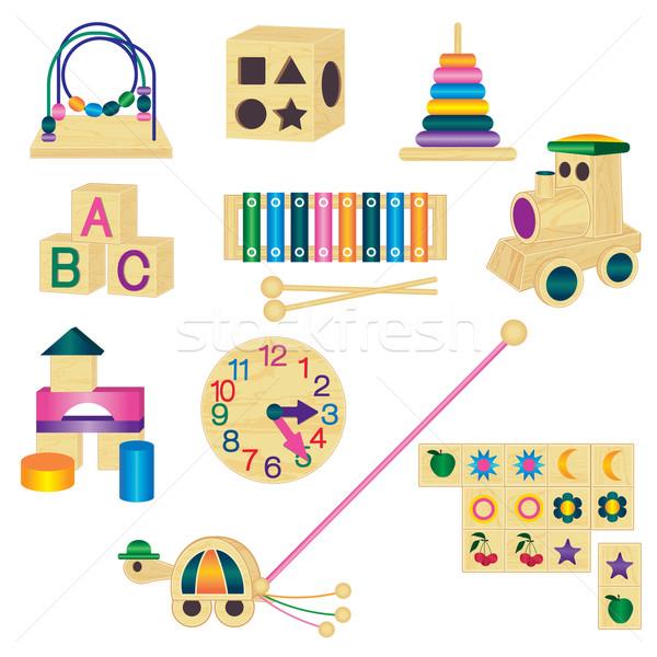 Brinquedos coleção bebê crianças Foto stock © sanjanovakovic