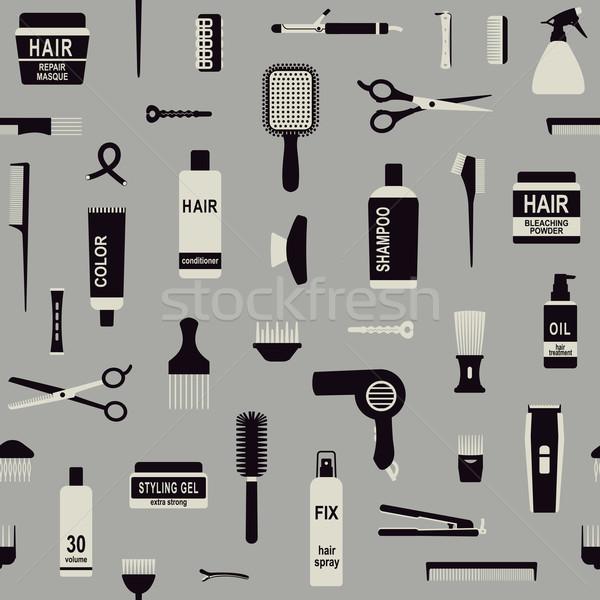 Saç vektör arka plan araçları siluet Stok fotoğraf © sanjanovakovic